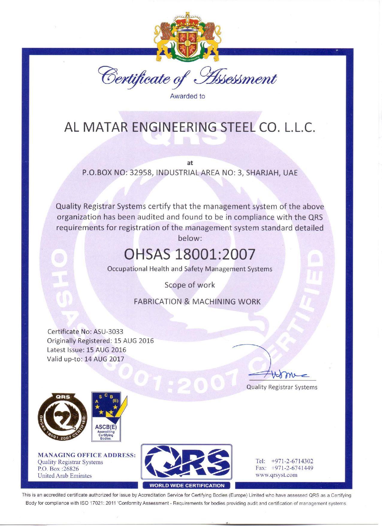 OSHAS 18001 2007 Matar-page-001